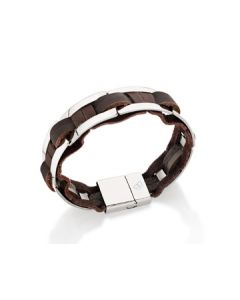 BRACELET LEATHER AND STEEL.