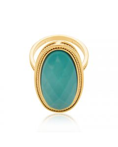 GOLD PLATED RING WITH CRYSTAL
