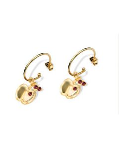 GOLD PLATED KID'S EARRING WITH CRYSTAL