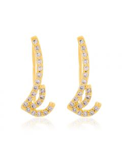 GOLD PLATED EARRING WITH ZIRCONIA