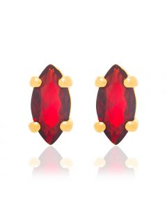 GOLD PLATED KID'S EARRING WITH ZIRCONIA