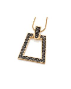 GOLD PLATED PENDANT WITH ZIRCONIA