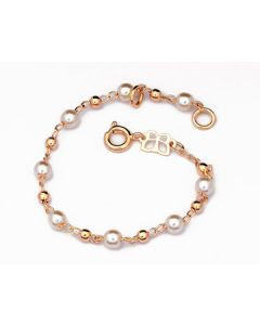 GOLD PLATED KID'S BRACELET WITH PEARL