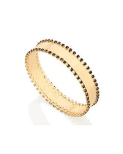 GOLD PLATED BRACELET WITH CRYSTAL